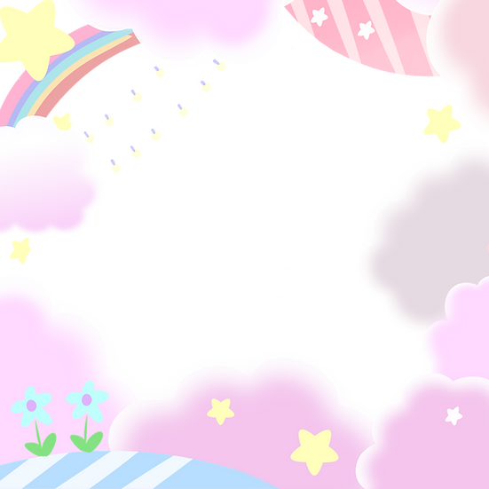 Border with Rainbow and Clouds - Free PNG Transparent Image, Instant Download
