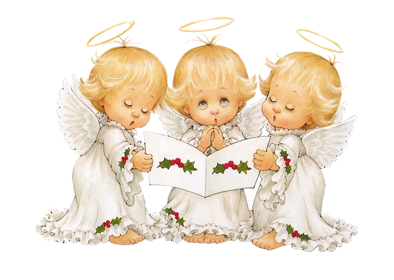 Angels Singing Christmas Songs Free PNG Images - Free Digital Image Download
