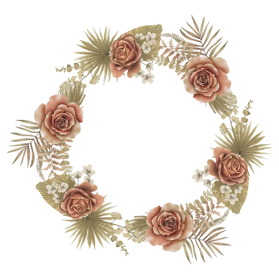 Beautiful Circle with Flowers - Free PNG Transparent Image, Digital Download