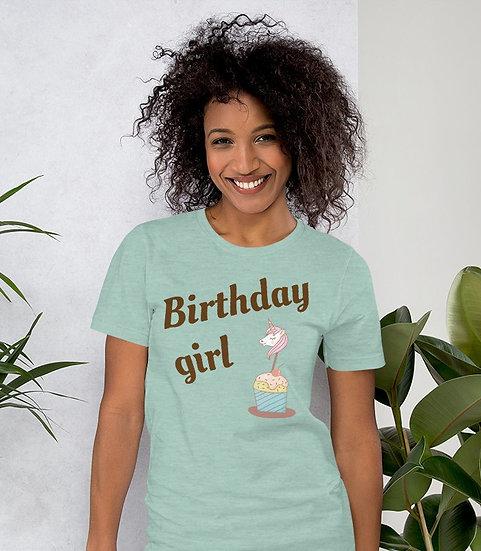 Birthday Girl Design Short-Sleeve Women's T-Shirt
