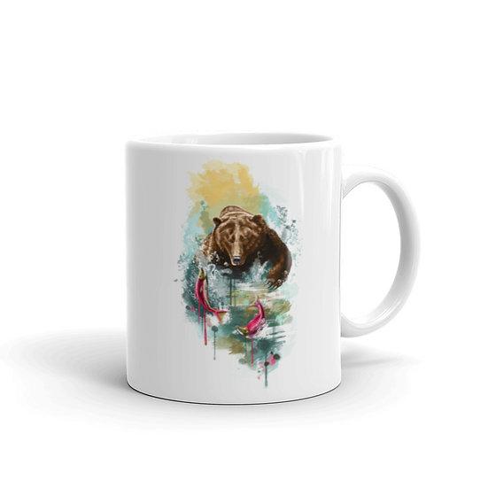 Watercolor Alaska Bear Coffee Cup Mug for Coffee / Tea White Ceramic Mugs1