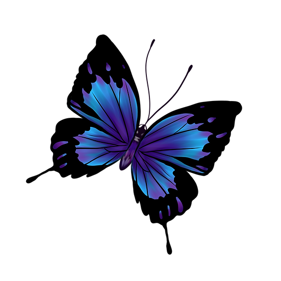 Cool Black Blue Butterfly - Free PNG Images, Transparent Image Instant Download