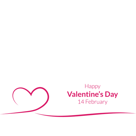 Happy Valentine's Day 14 February - PNG Transparent Image - Instant Download