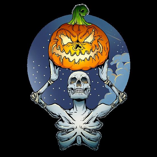 Halloween Skeleton with Pumpkin Free PNG Images - Free Digital Image Download
