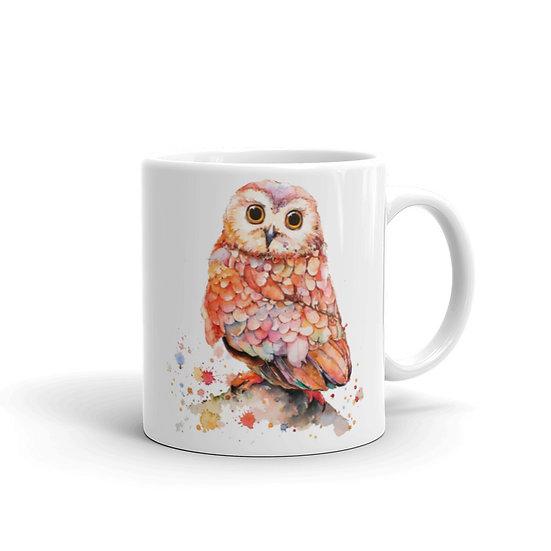 Watercolor Cute Owl Coffee Cup Mug for Coffee / Tea White Ceramic Mugs 11/15 oz1