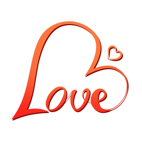 Love - Incredible Clipart - Valentine's Day Transparent Image - Instant Download