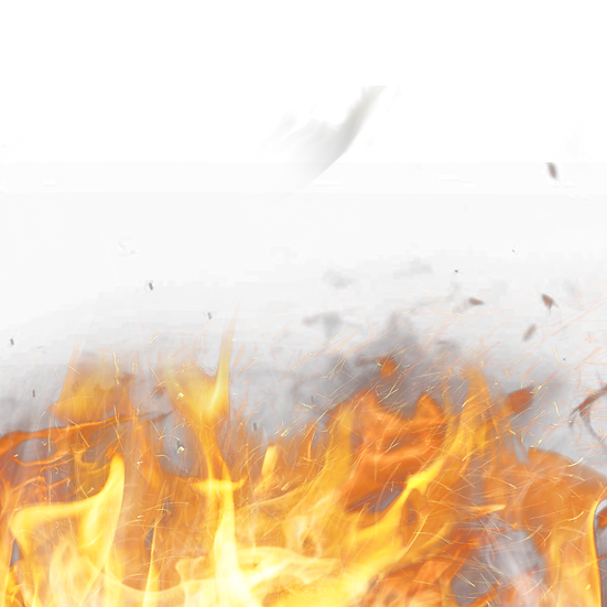 Gradient Flame with Smoke - Free PNG Images, Transparent Image Instant Download