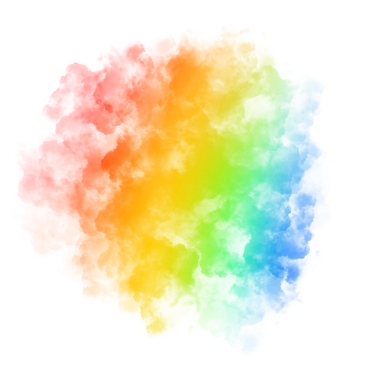 Rainbow Colored Smoke - Free PNG Images, Transparent Image Instant Download
