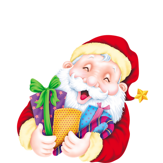 Santa Claus with Christmas Gifts Free PNG Images - Free Digital Image Download