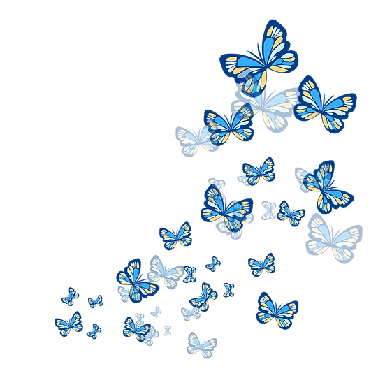 Colorful Flying Butterflies - Free PNG Image, Transparent Image Digital Download