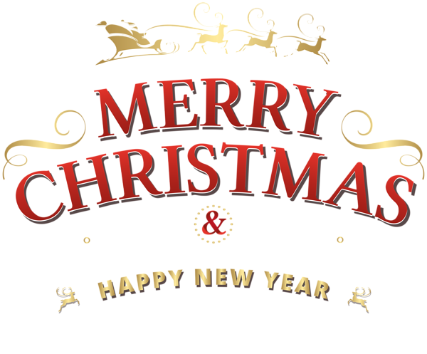 Merry Christmas & Happy New Year Free PNG Images - Free Digital Image Download