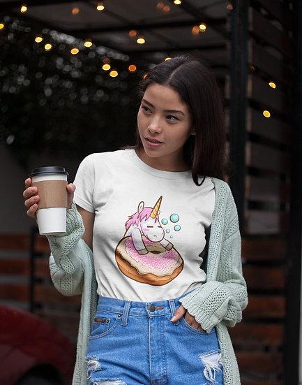 Sleepy Unicorn Design Short-Sleeve Women's T-Shirt