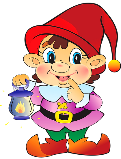 Curious Christmas Elf Free PNG Images - Free Digital Image Download