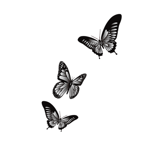 Cartoon Black Butterflies - Free PNG Images, Transparent Image Instant Download