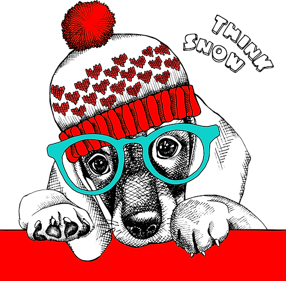 Think Snow Christmas Dog Free PNG Images - Free Digital Image Download