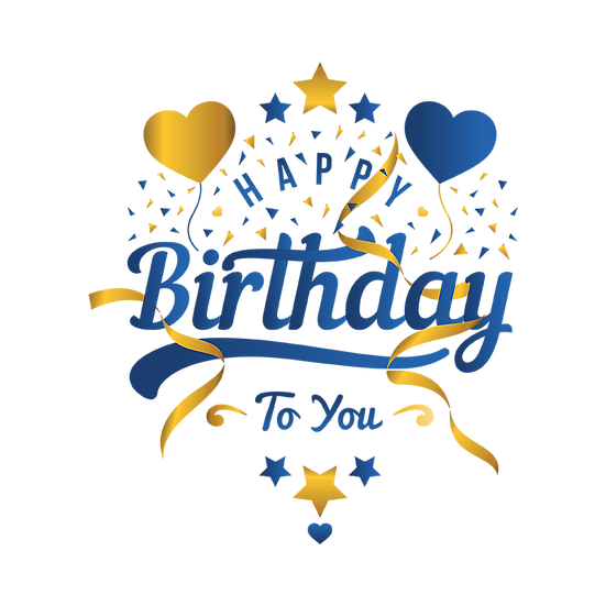 Magnificent Birthday Clipart - PNG Transparent Image - Digital Download