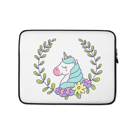 Unicorn Blooms Laptop Sleeve for MacBook, HP, ACER, ASUS, Dell, Lenovo