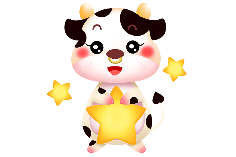 Calf Holding Star - Free PNG Images, Transparent Image Instant Download