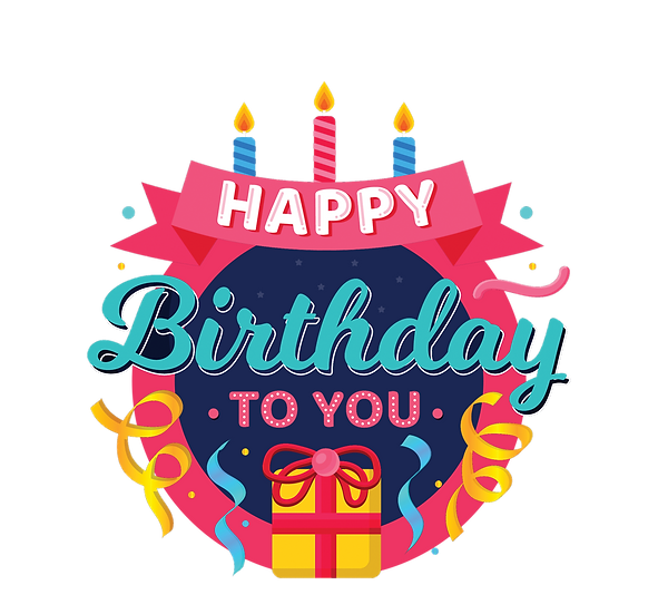 Lovely Birthday Greeting Card - PNG Transparent Image - Digital Download