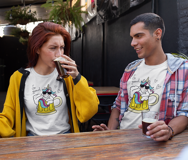 Unicorn Beer Funny Graphic Tees for Women - Beernicorn Women's t-shirt