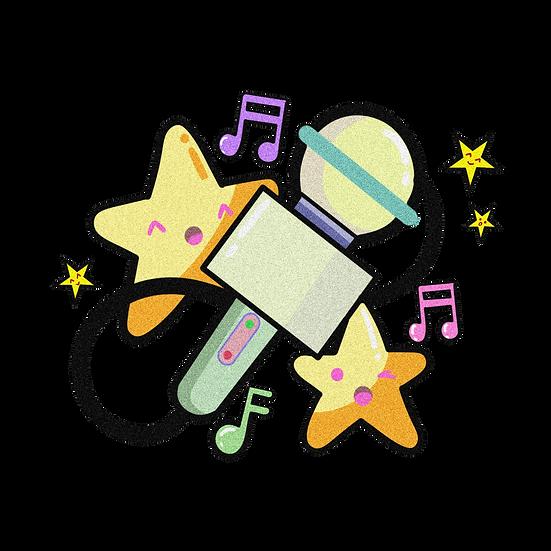 Cute Singing Stars - Free PNG Images, Transparent Image Digital Download