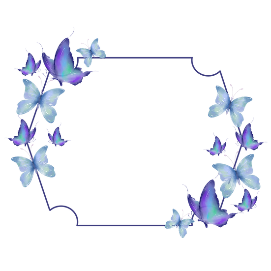 Frame with Butterflies - Free PNG Images, Transparent Image Digital Download