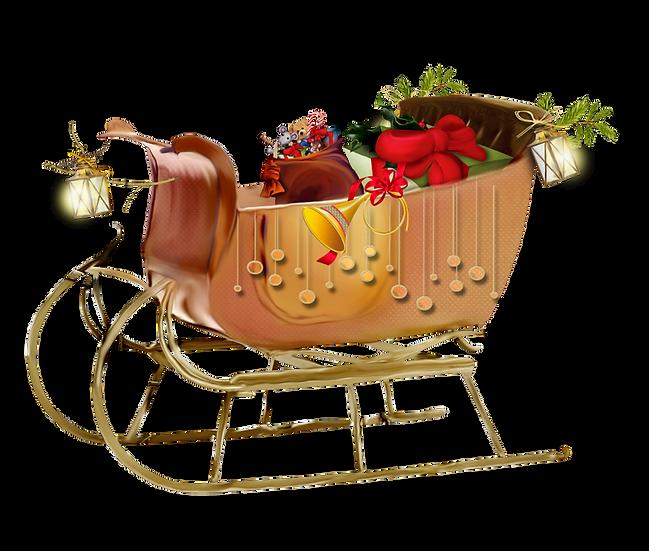 Santa's Sleigh Free PNG Images - Free Digital Image Download