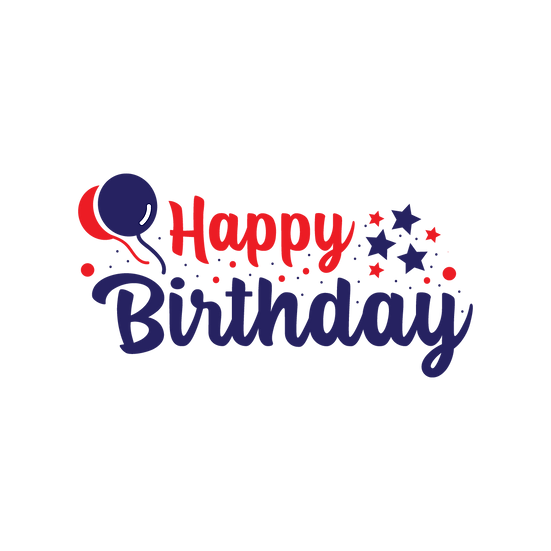 Festive Birthday Clipart - Birthday PNG Transparent Image - Digital Download