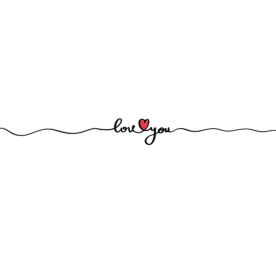 Love You Clipart - Valentine's Day PNG Transparent Image - Instant Download