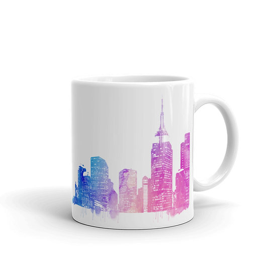 Watercolor New York City Coffee Cup Mug for Coffee / Tea White Ceramic Mugs1