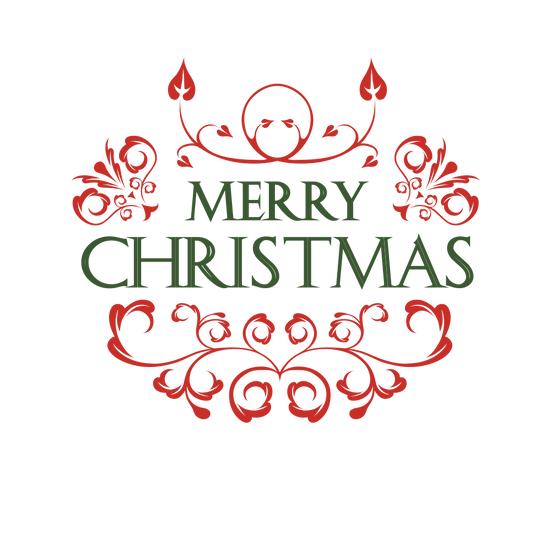 Merry Christmas Green Inscription Free PNG Images - Free Digital Image Download