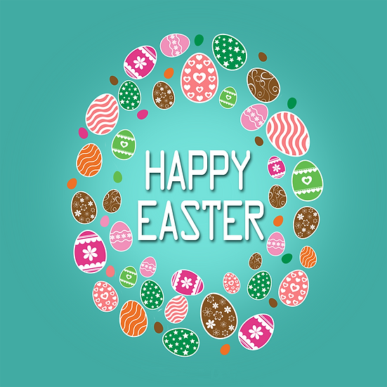 Happy Easter Marvelous Greeting Card - Easter PNG Image - Instant Download
