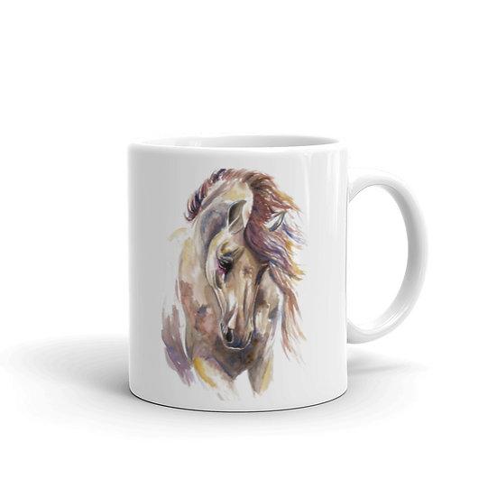 Watercolor Horse Coffee Cup Mug for Coffee / Tea White Ceramic Mugs 11/15 oz1
