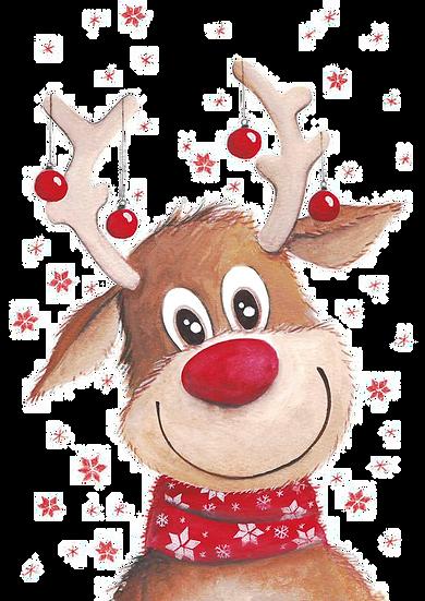 Cute Christmas Deer Free PNG Images - Free Digital Image Download
