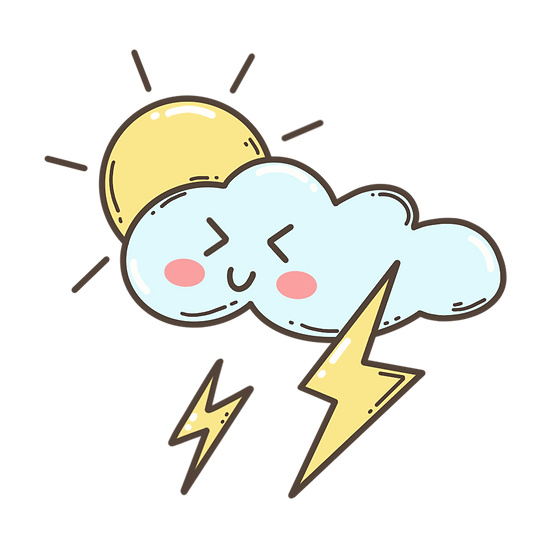 Happy Cloud with the Sun - Free PNG Images, Transparent Image Digital Download