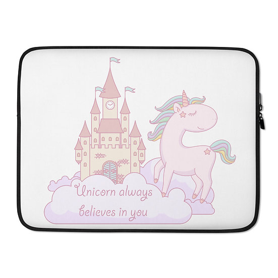 Unicorn Believes in You Laptop Sleeve for MacBook, HP, ACER, ASUS, Dell, Lenovo