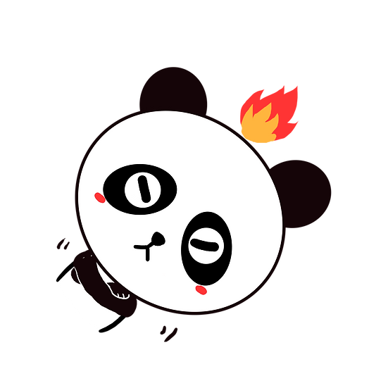 Mad Panda Clipart with Fire - Free PNG Image, Transparent Image Digital Download