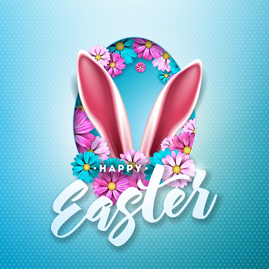 Magnificent Easter Greeting Card - Easter PNG Image - Instant Download