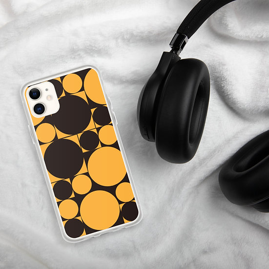 Black & Yellow Rounds iPhone Cases1