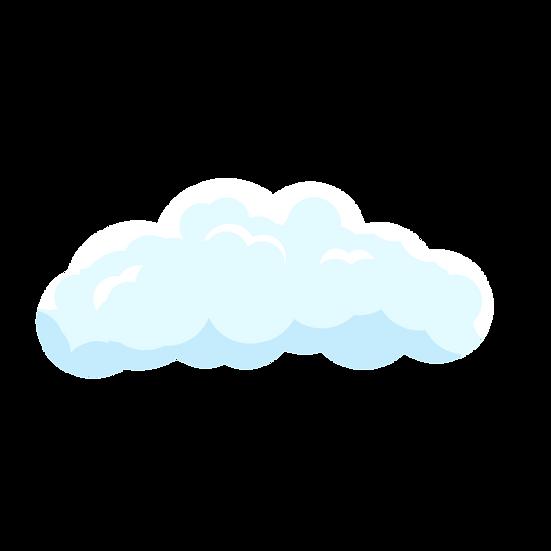 White Cloud Clipart - Free PNG Images, Transparent Image Digital Download
