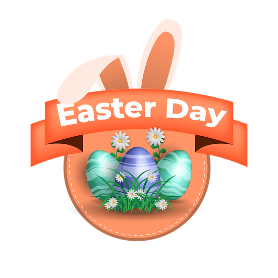 Easter Day Cool Clipart - Easter PNG Transparent Image - Instant Download