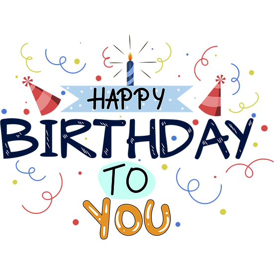 Adorable Birthday Greeting Card - PNG Transparent Image - Digital Download