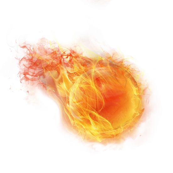 Ball on Fire Clipart - Free PNG Images, Transparent Image Digital Download