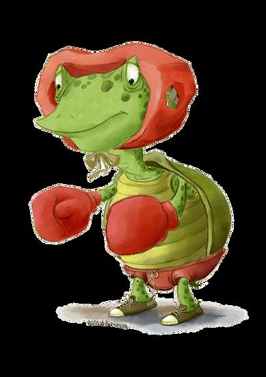 Cartoon Turtle Boxer Free PNG Images - Free Digital Image Download