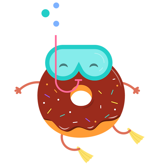 Donut Under The Water - Free PNG Images, Transparent Image Instant Download