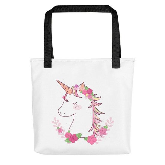 Flowered Unicorn Tote bag