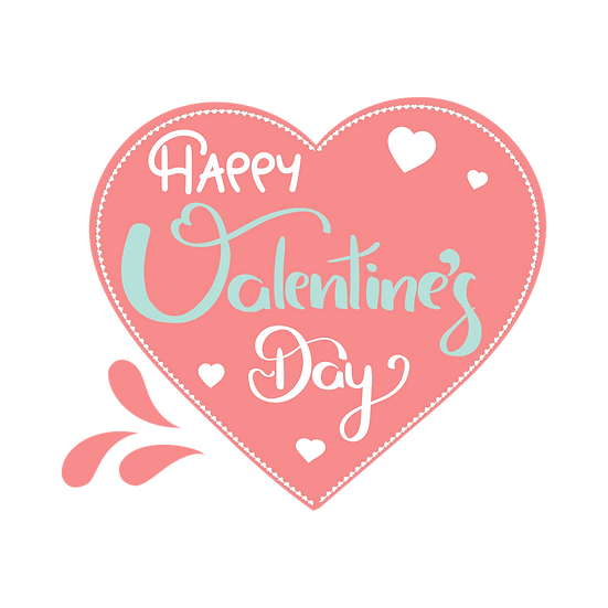 Amazing Valentine's Day Greeting Card - PNG Transparent Image - Instant Download