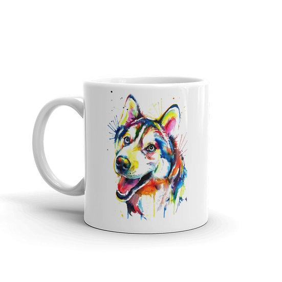 Watercolor Siberian Husky Coffee Cup Mug for Coffee / Tea White Ceramic Mugs1