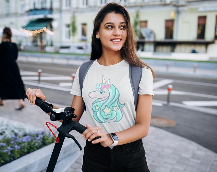 Marrs Green Unicorn Design Short-Sleeve Women's T-Shirt