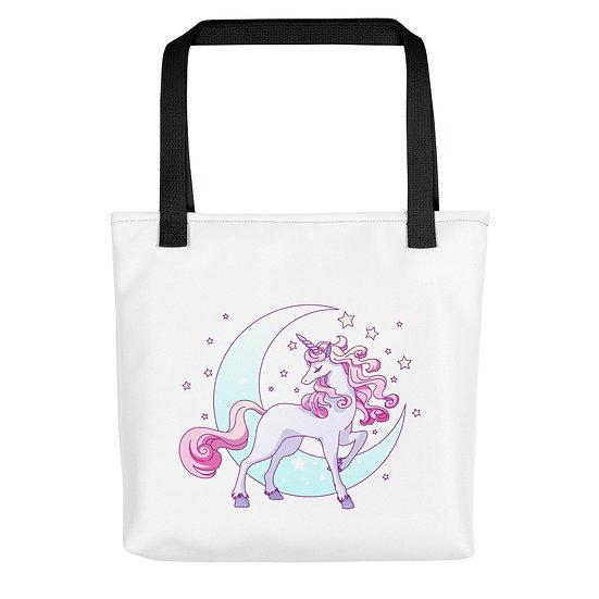 Pink Unicorn and Moon Tote bag